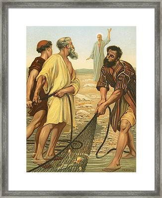 Christ Calling The Disciples Framed Print by Philip Richard Morris