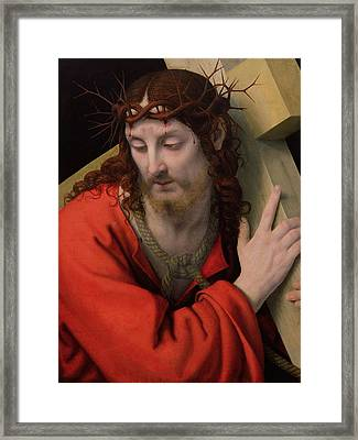 Christ Carrying The Cross Framed Print by Andrea Solario