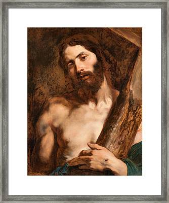 Christ Carrying The Cross Framed Print by Anthony van Dyck