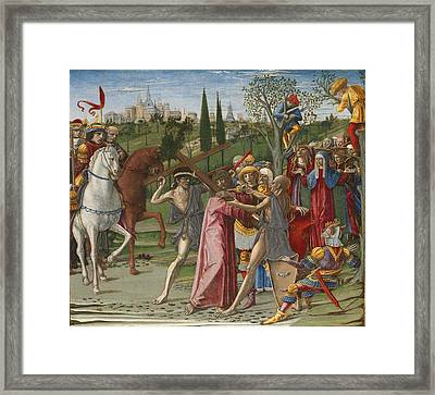 Christ Carrying The Cross Framed Print by Benvenuto Di Giovanni