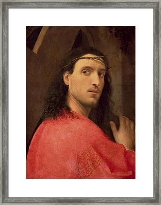 Christ Carrying The Cross Framed Print by Italian School
