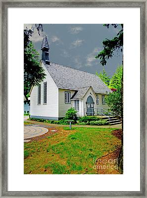 Framed Print featuring the photograph Christ Church by Rod Wiens