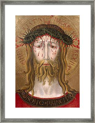 Christ Crowned With Thorns  Framed Print by Benedetto Bonfigli
