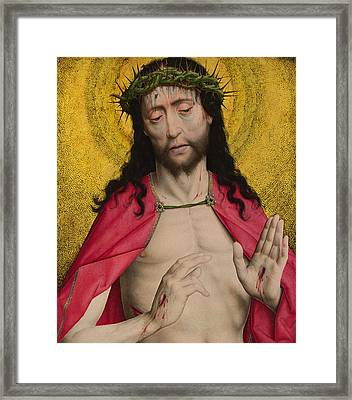 Christ Crowned With Thorns Framed Print by Dirck Bouts