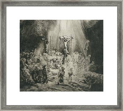 Christ Crucified Between The Two Thieves Framed Print