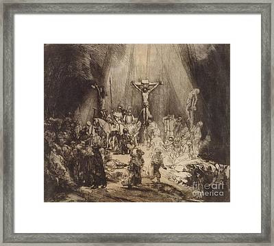 Christ Crucified Between The Two Thieves  The Three Crosses, 1653 Framed Print