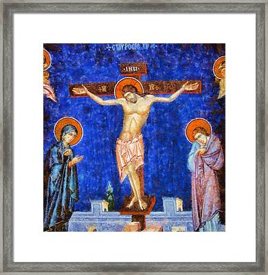 Christ Crucified Framed Print by Esoterica Art Agency