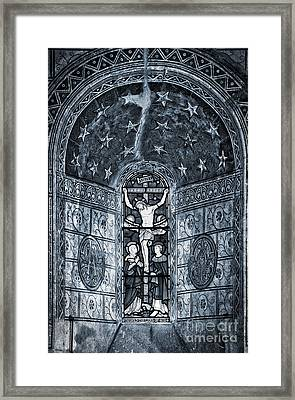 Christ Crucifixion Window Framed Print