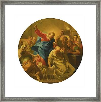 Christ Driving The Money Lenders Framed Print by MotionAge Designs