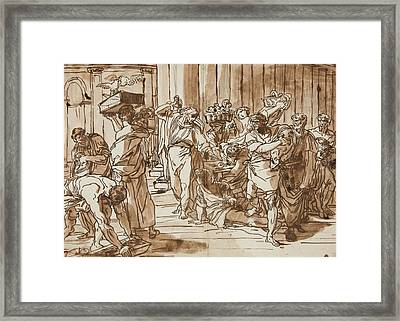 Christ Driving The Money Framed Print by MotionAge Designs