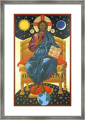 Christ Enthroned Icon  Framed Print by Mark Dukes