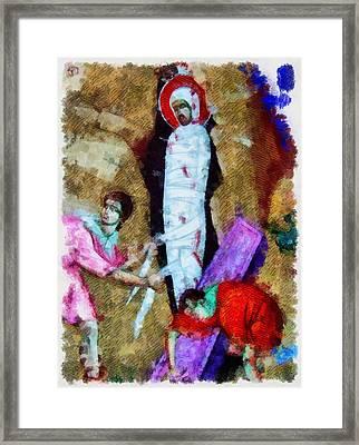 Christ Entombed Framed Print