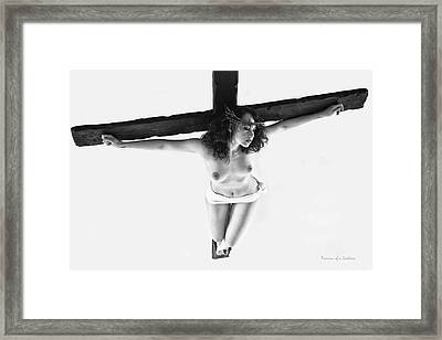 Christ-femme Framed Print