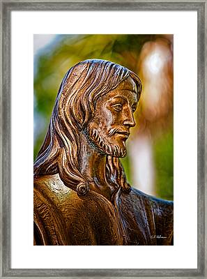 Christ In Bronze Framed Print