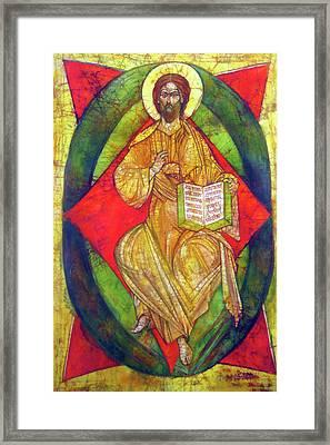 Christ In Majesty I Framed Print by Tanya Ilyakhova