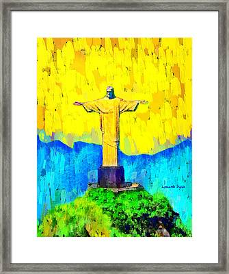 Christ In Rio 1 - Pa Framed Print