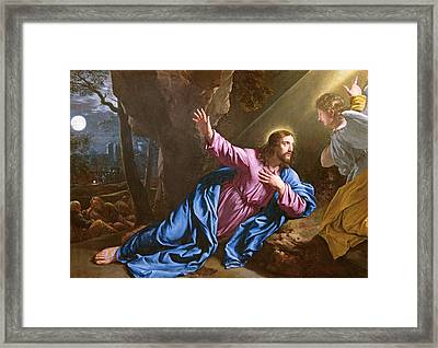 Christ In The Garden Of Olives Framed Print by Philippe de Champaigne