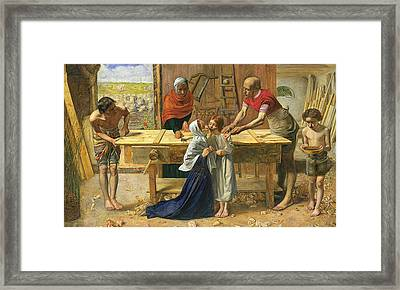 Christ In The House Of His Parents Framed Print by John Everett Millais