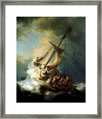 Christ In The Storm Framed Print