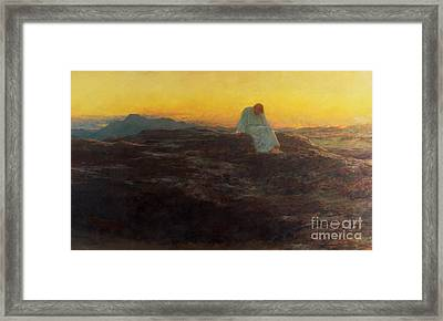 Christ In The Wilderness Framed Print by Briton Riviere