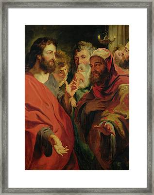 Christ Instructing Nicodemus Framed Print