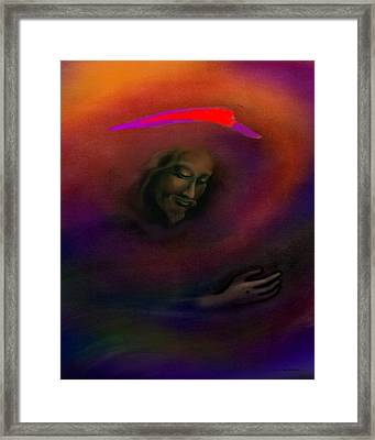 Framed Print featuring the painting Christ by Kevin Middleton