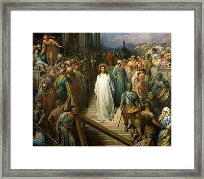 Christ Leaves His Trial Framed Print by Gustave Dore