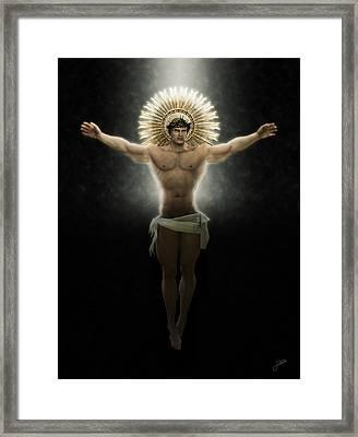Christ Of Free Love Framed Print