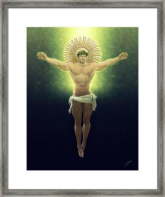 Christ Of Renewable Energy Framed Print by Joaquin Abella