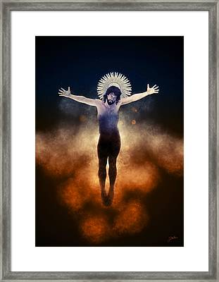 Christ Of The Cosmos Framed Print by Joaquin Abella