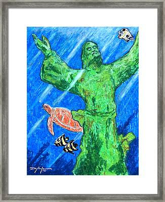 Christ Of The Deep Framed Print by William Depaula