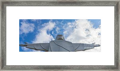 Christ Of The Ozarks Pano Framed Print