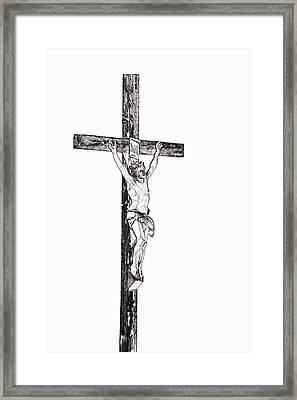 Christ On Cross Framed Print