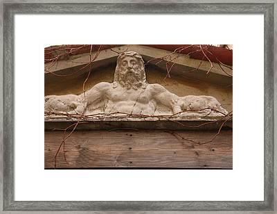 Christ On Shrine In Venice Framed Print by Michael Henderson