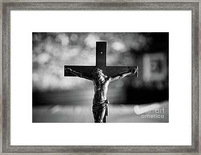 Framed Print featuring the photograph Christ On The Cross by Dean Harte
