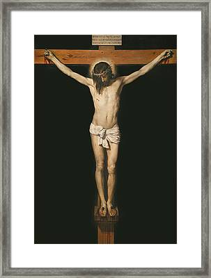 Christ On The Cross Framed Print by Diego Velasquez