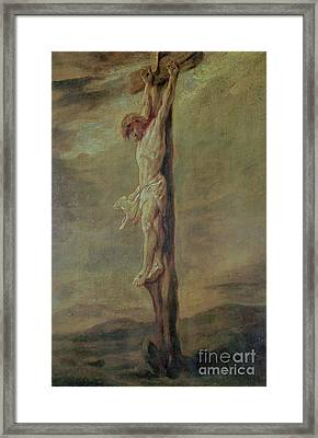 Christ On The Cross Framed Print by Rembrandt
