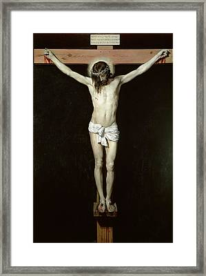 Christ On The Cross Framed Print by Velazquez