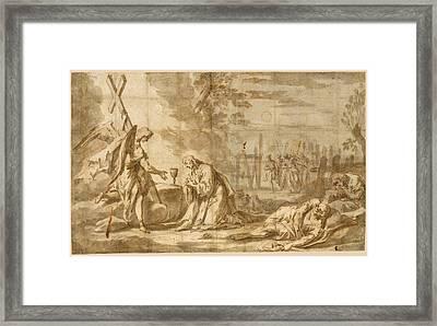 Christ On The Mount Of Olives Framed Print