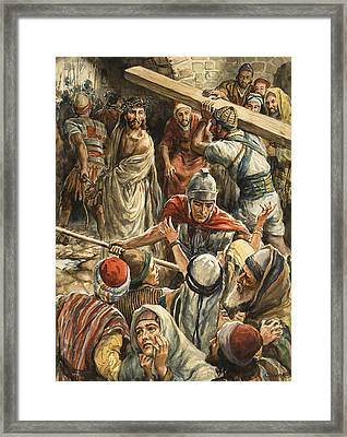 Christ On The Way To His Crucifixion Framed Print by Henry Coller