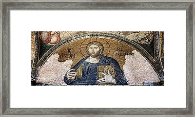 Christ Pantocrator -- Chora Framed Print by Stephen Stookey