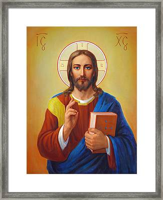Christ Pantocrator - Cristo Pantocratore Framed Print by Svitozar Nenyuk