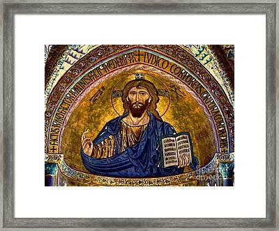 Christ Pantocrator Mosaic Framed Print