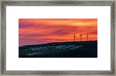 Christ Pilot Me Hill Framed Print