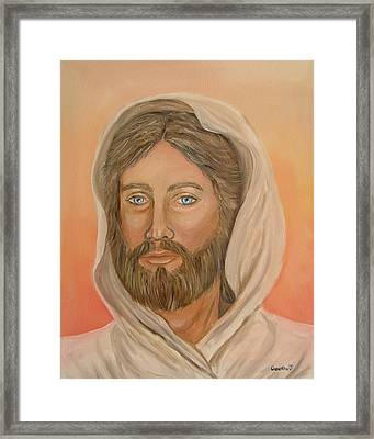 Framed Print featuring the painting Christ by Quwatha Valentine