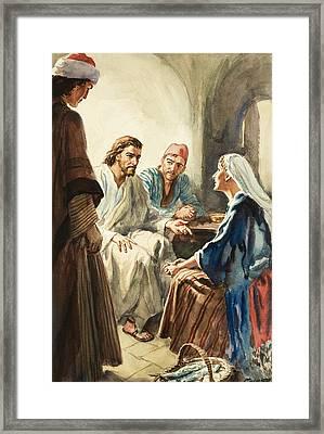 Christ Talking Framed Print by Henry Coller