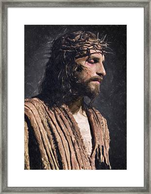 Christ Framed Print by Taylan Apukovska