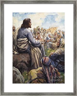 Christ Teaching Framed Print by English School