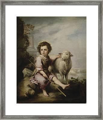 Christ The Good Shepherd Framed Print by MotionAge Designs