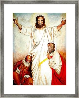 Christ The Healer Framed Print by G Cuffia